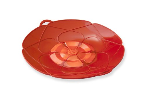 Kuhn Rikon Kochblume Spill Stopper, Large, 12-Inch, Red