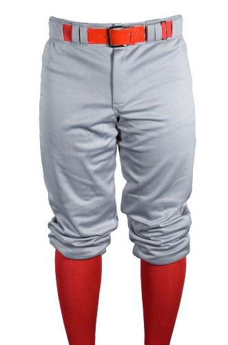 Louisville Slugger Boy's Slugger Old School Traditional Knicker 3/4 Length Pant, White, (Louisville Snap)