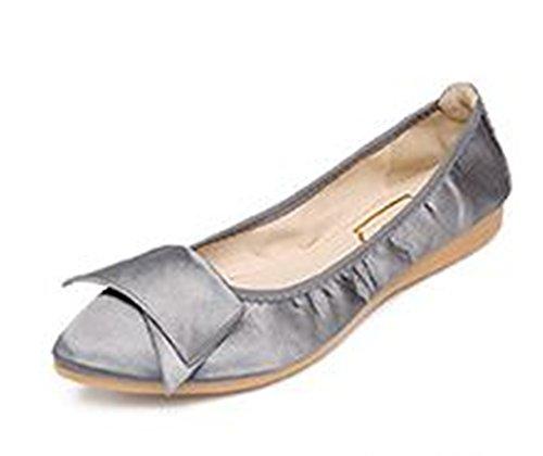 (Women's Shoe Ballet Basic Light Comfort Low Heel Flat-(Grey 37/6 B(M) US Women) )