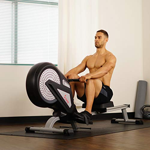 Sunny Health & Fitness SF-RW5623 Air Rowing Machine Rower w/ LCD Monitor by Sunny Health & Fitness (Image #16)
