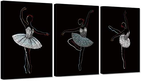 BALLET DANCING SHOES MODERN CANVAS PRINT WALL ART PICTURE READY TO HANG