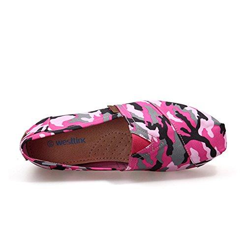 Zapatillas de primavera/Casuales zapatos pedal ligero de camuflaje/Bangtao pies zapatos Rose