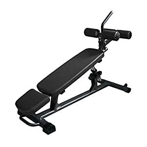 Finer Form Semi-Commercial Sit Up Bench Elite with Reverse Crunch Handle for Ab Exercises and 4 Adjustable Height Settings