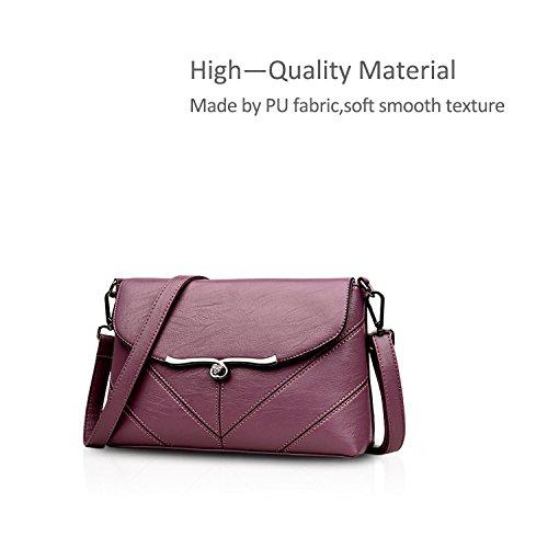 Bag C Bags Señoras Mujer Bandolera Bolsa Bolso de amp;DORIS Crossbody Hombro PU de Mensajero Bolsos Purple NICOLE wqnaPHOn