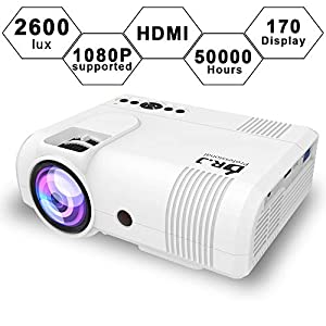 DR J 2600Lux LCD Mini Projector Compatible with Laptop/USB
