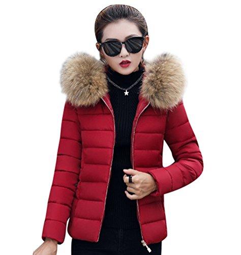Sentao Manteau Hiver Femme Jacket Court Elegant Veste