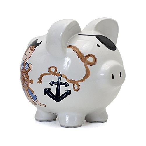 Child to Cherish Ceramic Piggy Bank for Boys, - Pirate Bank Piggy