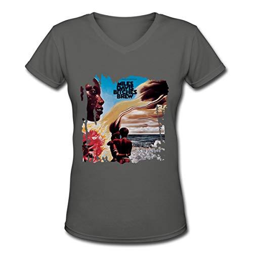 Women's T Shirt V-Neck Miles Davis Bitches Brew