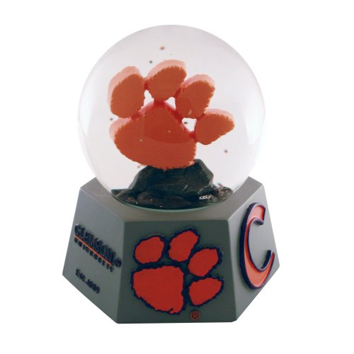 NCAA Clemson Tigers Paw Logo Musical Snow (Tigers Musical Globe)