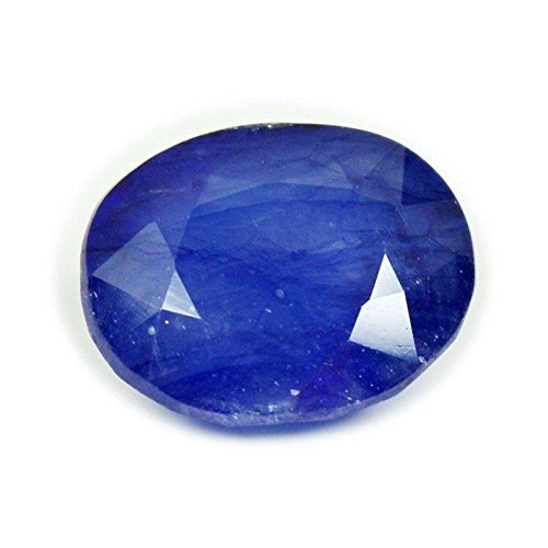 Getgemstones Blue Sapphire Oval Ceylon Mined Pukhraj Loose Gemstone Certified 3.7 Carat ()