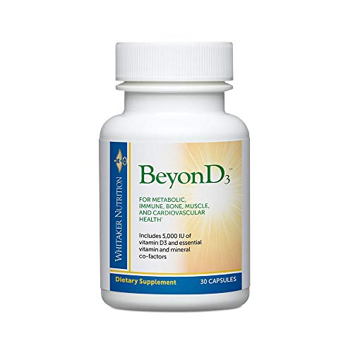 Dr. Whitaker's BeyonD3 – Vitamin D Supplement with Boron, Vitamin K2, Magnesium & Zinc – Supports Immune Health, Calcium Metabolism & Bone Mineralization (30 Capsules) For Sale