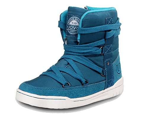 iDuoDuo Kids Casual Short Shaft Boots Side Zipper Waterproof Snow Boots Blue 13 M US Little Kid by iDuoDuo (Image #7)
