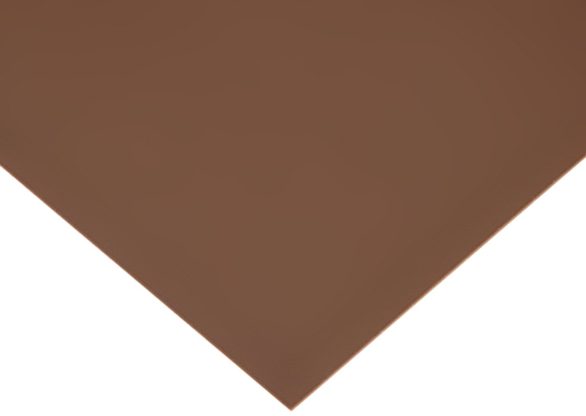 PVC (Polyvinyl Chloride) Shim Stock, Flat Sheet, Brown, 0.010'' Thickness, 25'' Width, 50'' Length (Pack of 1) by Small Parts