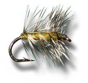 Griffith 's Gnat – オリーブフライ釣りフライ Size 16 - 3 Pack  B00KD7X5GQ