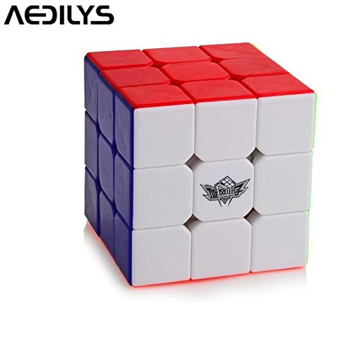 AEDILYS Brand New Cyclone Boys 3x3 Speed Cube Magic Cube 3x3x3 Puzzles (56mm) Educational Toy Special - Colored Cube