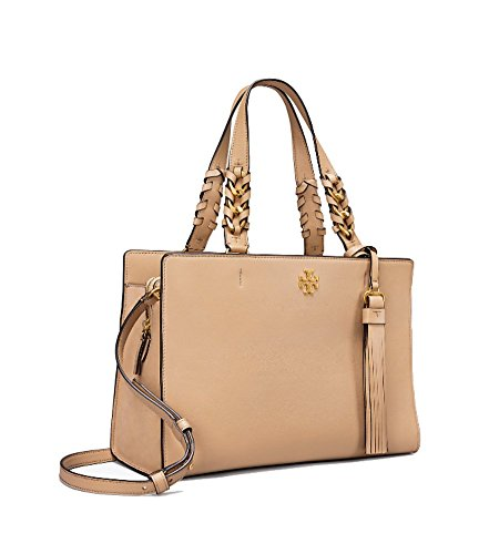 Tory Burch Brooke Leather Satchel Shoulder Bag Purs (Savannah) by Tory Burch