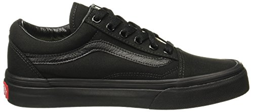 Vans Unisex-Erwachsene Old Skool Classic Canvas Sneakers Schwarz (Black)