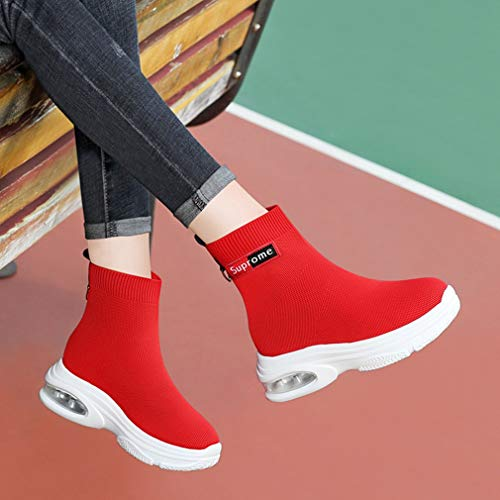 Scarpe Corsa Casual Rosso Yan Antiscivolo Novità Spring Cuscino Scarpe Donna Sneakers Air Ginnastica Da Calze Mesh sneakers Invisibili q5wpS75rzn