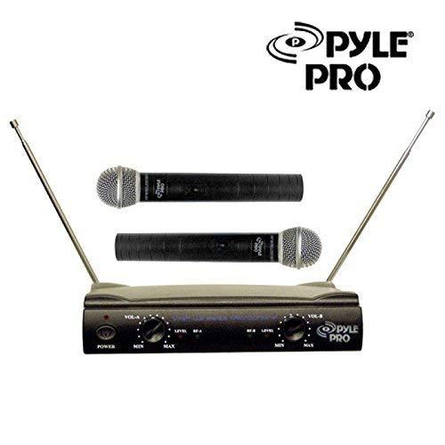 Pdwm2500 Dual Vhf Wireless Microphone - Great Value Pro Audio Equipment New Pyle Pro PDWM2500 2 MIC DJ Karaoke 2 CH VHF Dual Cordless Wireless Microphone System