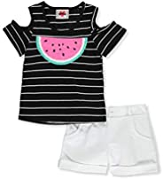 RMLA Girls' Polka Dot and Flip Sequin Watermelon 2-Piece Shorts Set Ou
