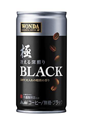 아사히 음료 완다  극 블랙 훌륭한 프렌치 로스트 캔커피 185g × 30 개