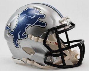 Riddell Detroit Lions Helmet Replica Mini Speed Style Throwback ()