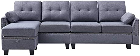 home, kitchen, furniture, living room furniture,  sofas, couches 4 on sale HONBAY Reversible Sectional Sofa Couch for Living Room deals