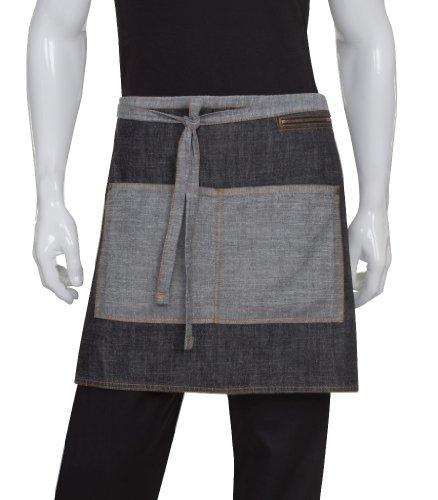 Chef Works Unisex Manhattan Half Bistro Apron, Black, One Size