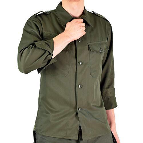 Original Austrian Army Combat Shirt OD Olive drab Field BDU Long Sleeves Genuine Military Issue (Large Regular)