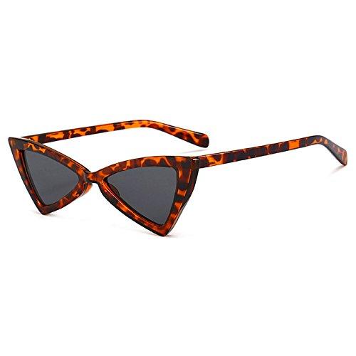 Diseño Triángulo Nuevas Gafas de Gafas Mujer Burenqi C de Mariposa Unisex de Vintage Femenina Gafas Sol Gato B Sol Marca Ojo Pequeño BUq5wa