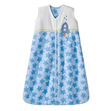 Halo Innovations SleepSack Wearable Blanket, Micro Fleece, Blue Rocket Stars, Medium