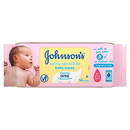 Bebé de Johnson extra sensible Wipes 56 por paquete