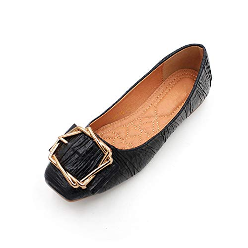 shoes women FLYRCX Spring casual single bottom metal soft buckle summer work pregnant EU non fashion shoes shoes and 36 slip flat comfort shoes aaqCwZr