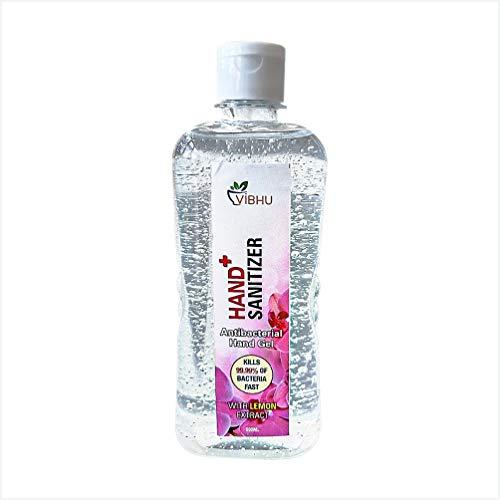 Zency RUBBER INDUSTRY VIBHU Sanitize Hand Sanitizer   Alcohol Based Sanitizer (Regular) – 500 ml GEL PUMP(PACK OF 2)