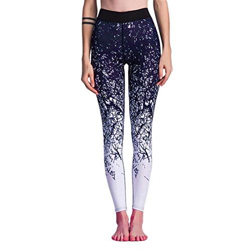 SiDiOU Group Pantalon de sport imprimé pour femme Yoga Leggings Collants Pantalon d'entraînement Pantalon de course