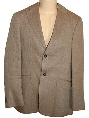 Banana Republic Chino Linen Blazer Herringbone 2 Buttons Suits 38 S Men (38 S) ()