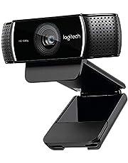 كاميرا ويب C922 برو ستريم فائقة الدقة مع ميكروفون وحامل ثلاثي القوائم قابل للتعديل من لوجيتيك