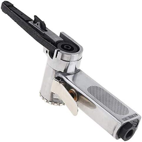 ZJN-JN Abrasives Linear 7100 10mm Pneumatic Air Belt Sander Drawing Machine Polishing Grinding Die-casting Aluminum Tools with 2Pcs Sanding Belts Industrial Abrasives