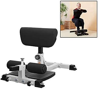 OMLTER Dispositivo De Sentadillas para Equipos Deportivos De Fitness con 5 Engranajes para Un Fácil Ajuste Máquina para Hacer Sentadillas con Rueda Móvil Portátil