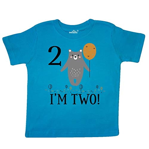(inktastic - 2nd Birthday Woodland Bear 2 Toddler T-Shirt 3T Turquoise 3559b)