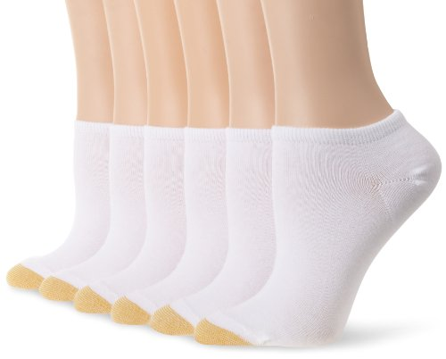 Gold Toe Women's 6 Pack Jersey Socks,White ,Shoe Size: 6-9 (Toe Socks Cotton Gold)