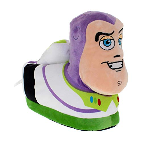 7035-1 - Disney-Pixar Toy Story - Buzz Lightyear Slippers - Small - Happy Feet Mens and Womens Slippers