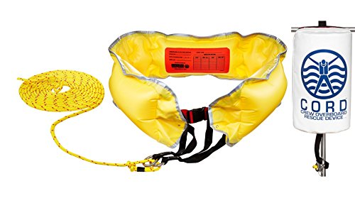 SWITLIK CORD Crew Overboard Rescue Device With Underarm Flotation Device and 150 Feet of Floating Line. Designed For Man Overboard Recovery and ()