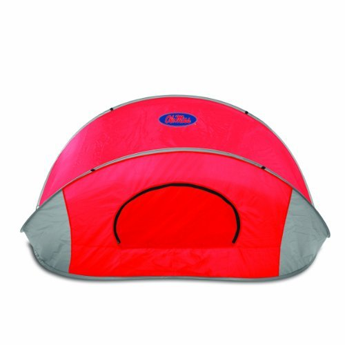 NCAA Mississippi Rebels Manta Portable Pop-Up Sun/Wind Shelter by Picnic Time by PICNIC TIME