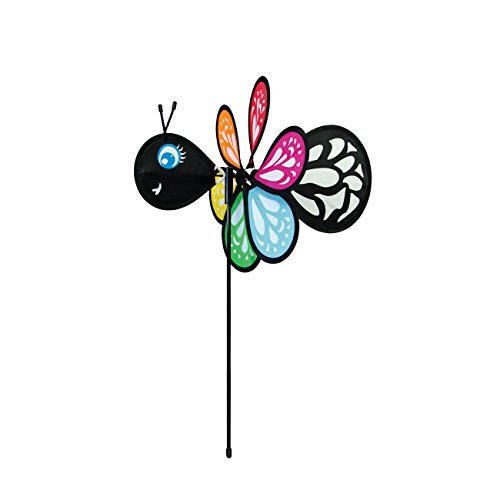 (In the Breeze Baby Bug Butterfly Wind Spinner - Silk Screened Details - Fun Spinner for your Flower Pot's, Garden and Yard)