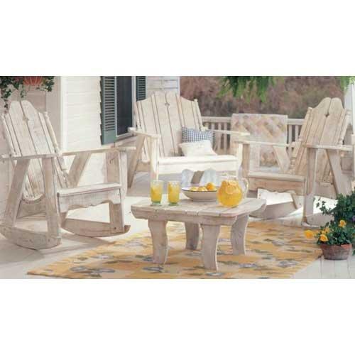 (Uwharrie Chair N153 Nantucket Settee Rocker - White)