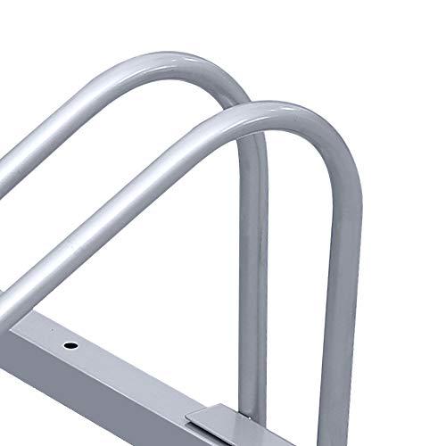 wolketon Aparcamiento para bicicleta soporte para aparcar 4 bicicletas suelo y pared montaje Bicycle Stand