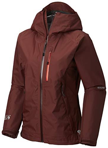 Mountain Hardwear Womens Exposure/2 Gore-Tex Paclite Jacket, Dark Umber, Large - Mountain Hardwear Nylon Sweater