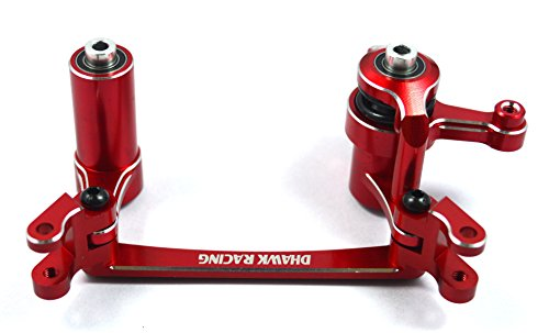 Dhawk Racing Aluminum Steering Bellcrank /w Bearing & Steering Posts Red For Yeti XL AX90032 ()