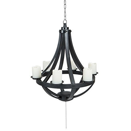 Sunjoy Francis Plastic Hanging LED Chandelier-Battery(not included) Operated -